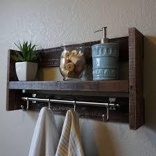 Bathroom Shelves With Towel Rack Modern Rustic 3 Tier Bathroom Shelf With 18 Satin Nickel Finish
