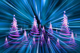 christmas forest form the color xmas lights stock photo colourbox
