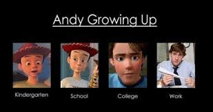 Toys Story Meme - toy story s andy grows up to jim from the office