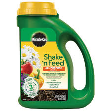 all natural flower food miracle gro shake n feed 4 5 lbs all purpose plant food