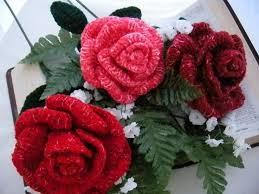 Crochet Designs Flowers Printable Crochet Rose Patterns Pink Rose Bouquet Crochet