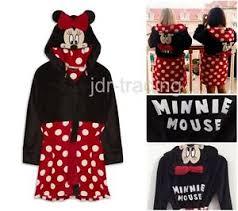 robe de chambre minnie femmes disney minnie mouse peignoir polaire à capuche robe de