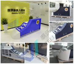 Mobile Reception Desk by Artificial Stone Reception Desk Glass Display Reception Desk