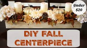 Fall Centerpieces How To Make A Fall Centerpiece Dollar Store Decor Clutterbug Me