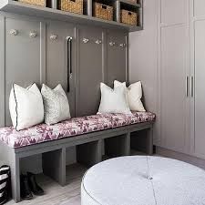 light gray mudroom built ins design ideas