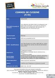 offre d emploi commis de cuisine pays de ploërmel dix offres d emploi proposées par la mission