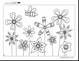 magnificent printable flower coloring pages for kids with flower