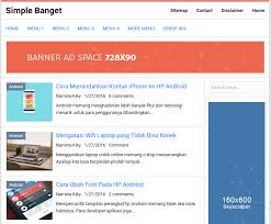 simple banget high ctr responsive blogger template softdews