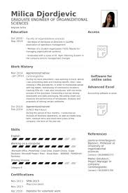 Examples Of Resumes For Teenagers by Trainee Resume Samples Visualcv Resume Samples Database