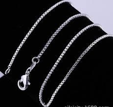 cheap silver chain necklace images Silver chain men women fashion box design 925 sterling silver jpg