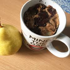 cuisine sans mati e grasse mug cake poire chocolat sans matière grasse la cuisine de rolly