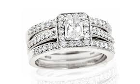 groupon wedding rings 1 25 carat bridal trio groupon goods