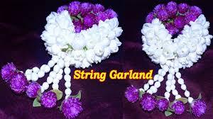 bridal garland with vadamalli nanthiyavattai string garland bridal