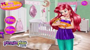 disney princess games ariel baby room decoration ड ज न