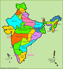 World Map Of India by Administrative Map Of India