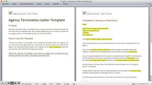 Termination Letter Template Agency Termination Letter Template Demand Metric