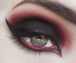 black and red gothy makeup tutorial youtube