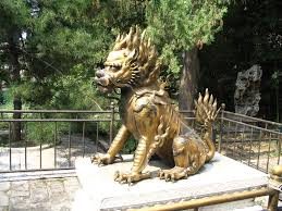 qilin statue qilin gilded statue in the forbidden city beijing china flickr