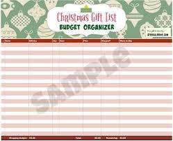christmas shopping list free printable christmas gift list budget organizer
