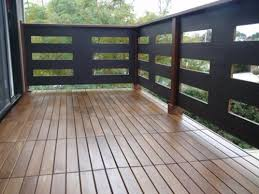 terrace and balcony with wooden tiles laying u2013 use as wood tiles