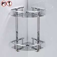Wall Mounted Bathroom Shelves Besy Shower Corner Caddy Bathroom Shelf Floating No Drilling With