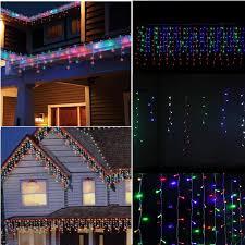 Curtain Fairy Lights by 3mx3m Eu Au Illuminated Led Outdoor Christmas Lights Garlands