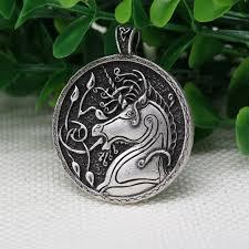 wholesale animal necklace images 10pcs wholesale celt symbol animal unicorn pendant men necklace jpg