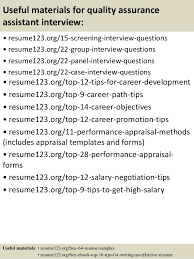 quality assurance assistant sample resume professional quality