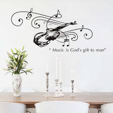 popular guitar wall decal buy cheap guitar wall decal lots from popular wallpaper art music is god s gift to man guitar wall sticker vinyl waterproof removable wall