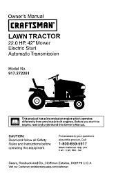 craftsman lawn mower 917 272281 user guide manualsonline com
