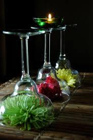 flowers under wine glass centerpiece wine margarita or martini