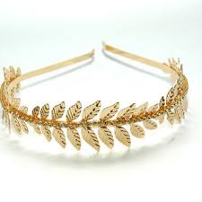 gold leaf headband shop laurel leaf headband on wanelo
