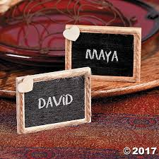 diy wooden chalkboard place cards