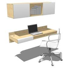 Wall Mounted Desk System Lax Wall Mounted Desk And Shelf 3d Model Formfonts 3d Models