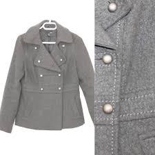 military jacket womans vintage wool blend winter war era coat
