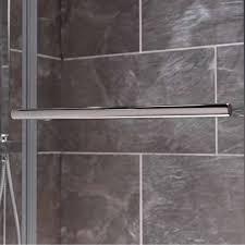Curved Shower Bath Screen Curved Double Bath Screen With Towel Rail Victoriaplum Com