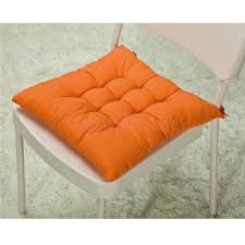 decor snazzy orange square seat chair cushions for indoor or