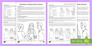 lks2 back to drama teaching ideas speaking and