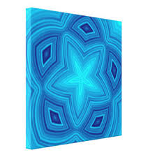 blue starfish wrapped canvas prints zazzle