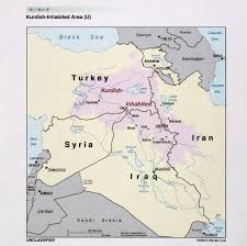 Kurdistan Map 2002 Cia Map Of Kurdish Inhabited Areas In The Middle East