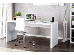 Bureau 160 Cm Design Elégance Blanc Laqué 160 Cm