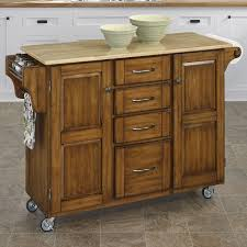 Butcher Block Top Kitchen Island August Grove Adelle A Cart Kitchen Island With Butcher Block Top