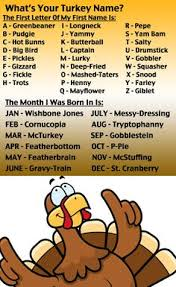 what is your turkey name hahaha fall