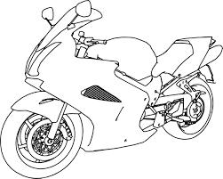 bikes honda vfr 800 interceptor motorcycle coloring page