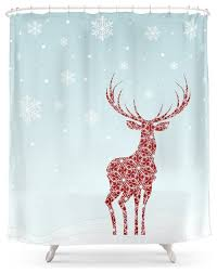 society6 christmas shower curtain rustic shower curtains by