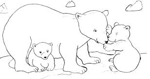 113 dessins de coloriage ours polaire à imprimer
