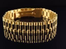 bracelet gold style images Men 39 s rolex style bracelet in solid 10k gold 14 mm jpg