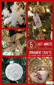 5 last minute ornaments to make with your family