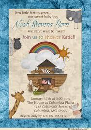 noah ark baby shower noah s ark baby shower invitation christian animal rainbow