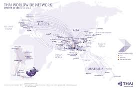 Singapore Airlines Route Map by International Destinations Flight Destinations Thai Airways